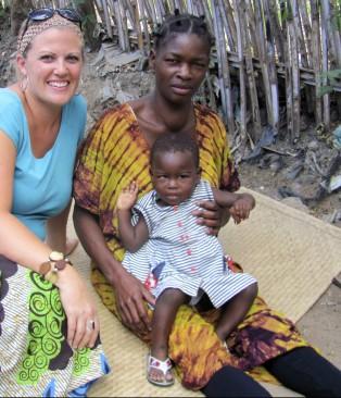 Sarah with Anna and baby Rokia